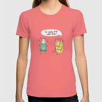 I'm Going First Womens Fitted Tee Pomegranate SMALL
