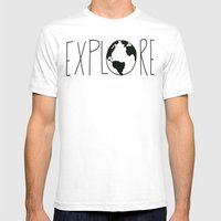 Explore the Globe Mens Fitted Tee White SMALL