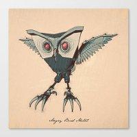 ANGRY BIRD METAL Canvas Print