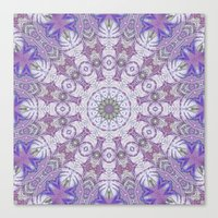 Jungle Kaleidoscope Amethyst Canvas Print