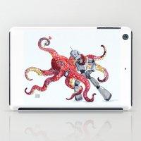 Robot Octopus Tango Date iPad Case