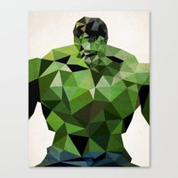 Polygon Heroes - Hulk Canvas Print