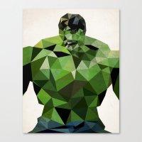 Polygon Heroes - Hulk Canvas Print