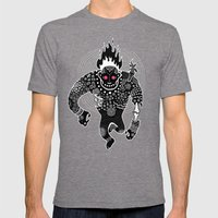 RUN Mens Fitted Tee Tri-Grey SMALL