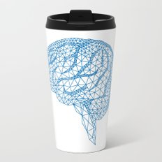 blue human brain Travel Mug