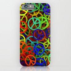 Rainbow peace texture iPhone 6 Slim Case