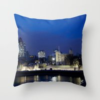 Tower of London at night Throw Pillow