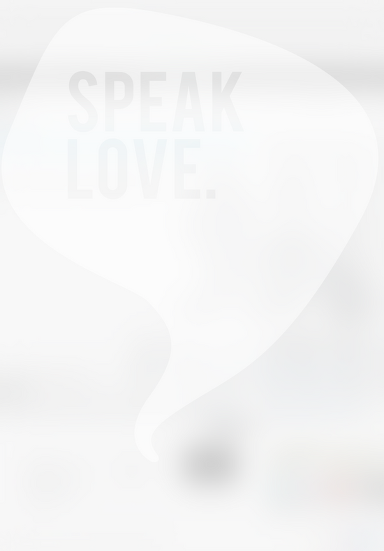 Speak Love Art Print