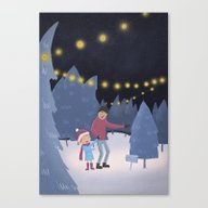 Picking The Christmas Tr… Canvas Print