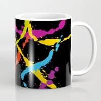Splattered Rainbow [BLACK] Mug