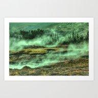 Greenish Land Art Print