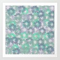 Painterly Embossed Floral Absract Art Print