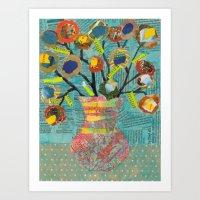 Junk Mail Flowers Art Print