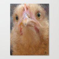 Chicken Face Canvas Print