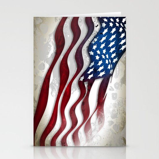 Old Glory...long may she wave Stationery Card