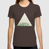 Echeveria Womens Fitted Tee Brown SMALL
