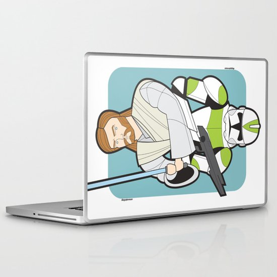 Obi-wan and Clone Trooper Laptop & iPad Skin