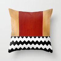 Shiny Copper Crimson Red… Throw Pillow