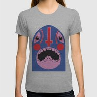 The Mad Lucha Womens Fitted Tee Athletic Grey SMALL