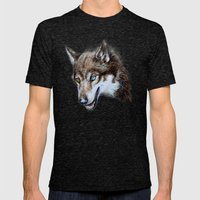 Heterocromia Wolf Mens Fitted Tee Tri-Black SMALL