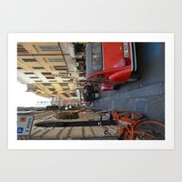 Streets of Rome Art Print