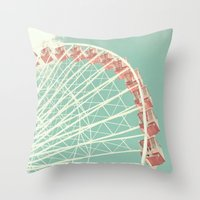 Rising Ferris Throw Pillow