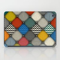 buttoned patches iPad Case