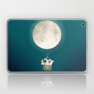 Moon Bunnies Laptop & iPad Skin