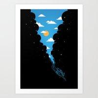 Skydiver Art Print