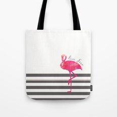 Live Free Flamingo  Tote Bag