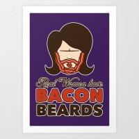 Bacon Beard (women's Ver… Art Print