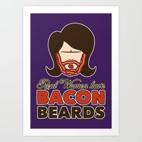 Bacon Beard (women's version) Art Print