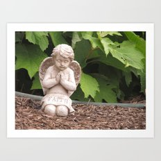 Praying Angel- Faith Art Print
