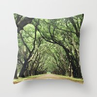 Canopy of Oaks Throw Pillow