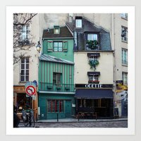 The Streets of Paris, France. Art Print