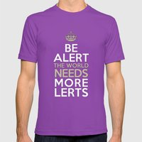 BE ALERT! Mens Fitted Tee Ultraviolet SMALL