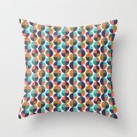 Mod Circles Pattern Throw Pillow