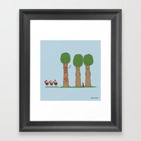 Tree Prank Gone Wrong Framed Art Print