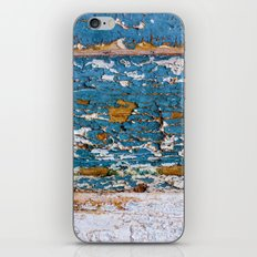 Worn Blue Wood iPhone & iPod Skin