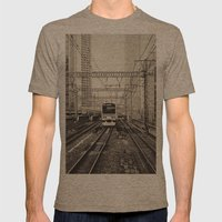Japan 5 Mens Fitted Tee Tri-Coffee SMALL