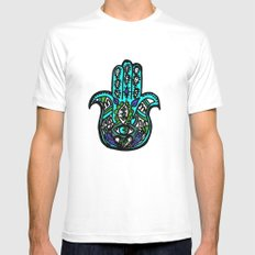 Third Eye White Mens Fitted Tee SMALL