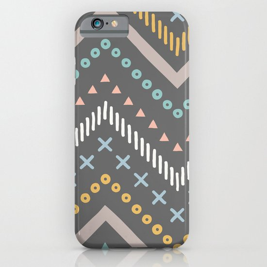 Mixed Zig Zag - in Charcoal iPhone & iPod Case