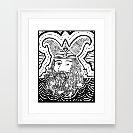 Vi King Framed Art Print