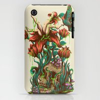 iPhone 3Gs & iPhone 3G Cases featuring flower by rururara