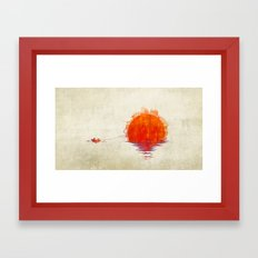The Fisherman and His Boy Framed Art Print
