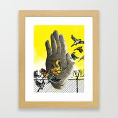 over and under and through Framed Art Print