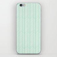 Herringbone Mint iPhone & iPod Skin