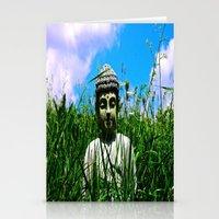 Buddha Looks Through Gra… Stationery Cards