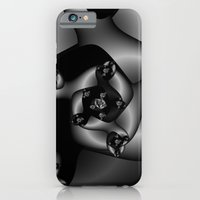 iPhone & iPod Case featuring Black and White Fractal 8 by Christy Leigh