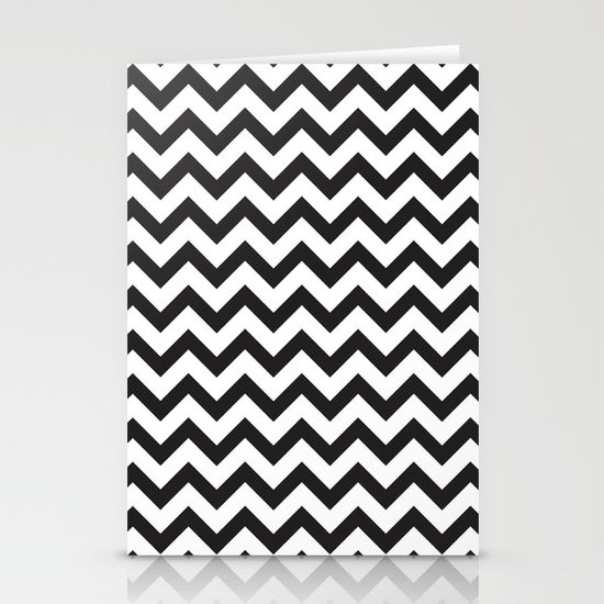 Classic Chevron Stationery Card